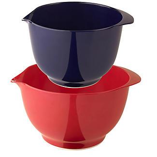 2 Plastic I Can Cook Nesting Mixing Bowls 1.5L & 2L Set