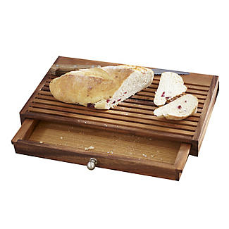 No Mess Wooden Bread Board with Crumb Catcher Drawer alt image 1