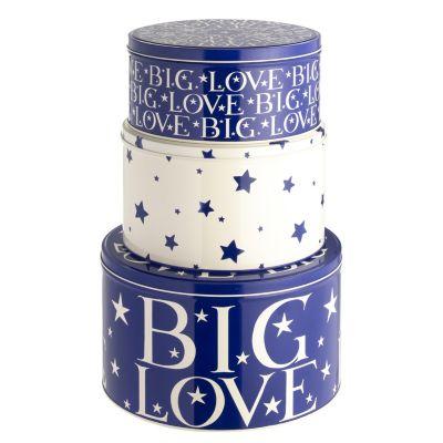 emma bridgewater starry skies set of 3 cake tins lakeland. Black Bedroom Furniture Sets. Home Design Ideas