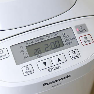 Panasonic White SD-2501 WXC Bread Maker 3 Loaf Sizes alt image 3