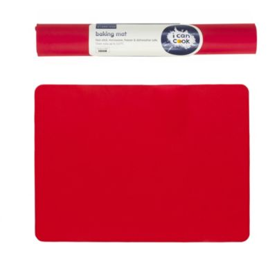 I Can Cook Silicone Baking Mat Red Lakeland