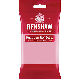 Renshaw Ready to Roll Coloured Icing - 250g Pink alt image 1