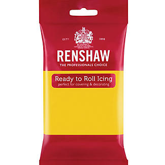 Renshaw Ready to Roll Coloured Icing - 250g Yellow
