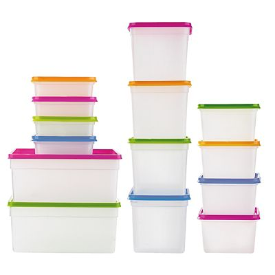 Stack a boxes Food Storage Containers Lids 25l X5 Lakeland