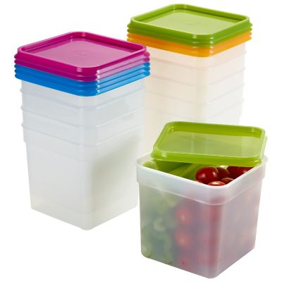Stack a boxes Food Storage Containers Lids 12l X10 Lakeland
