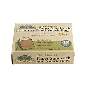 48 Traditional Brown Paper Snack & Sweets Bags - (Image ...