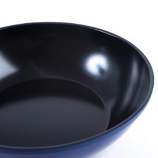 Colourful Ceramica Cookware Blue Lidded Wok - 28cm alt image 5