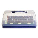 Kuchen Transportbox Rechteckig mit transparentem Deckel, 36 cm x 15 cm