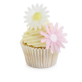 Edible Wafer White Daisy Toppers alt image 2