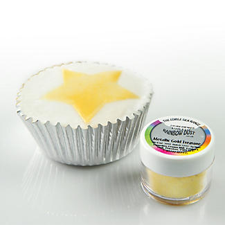 Cake Decorating Edible Silk Powder - 5g Metallic Light Gold  alt image 2