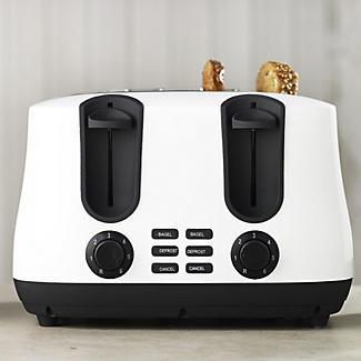 Elementi White 4 Slice Toaster