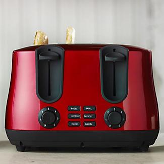 Elementi Red 4 Slice Toaster
