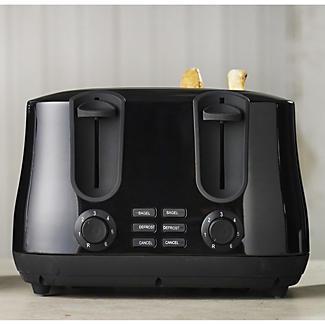 elementi black 4 slice toaster lakeland. Black Bedroom Furniture Sets. Home Design Ideas
