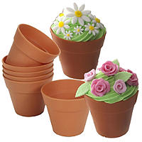 6 Silicone Flowerpot Cupcake Moulds