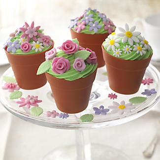 6 Silicone Flowerpot Cupcake Moulds alt image 5
