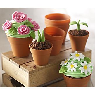 6 Silicone Flowerpot Cupcake Moulds alt image 7