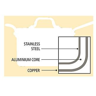 Copper Tri-Ply Saucepan 18cm alt image 3