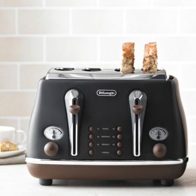 Delonghi Vintage Icona Toaster Black Lakeland