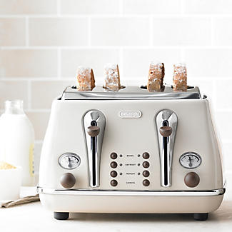 delonghi vintage icona toaster cream lakeland. Black Bedroom Furniture Sets. Home Design Ideas
