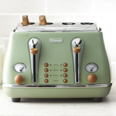 Delonghi Vintage Icona Toaster Green Lakeland