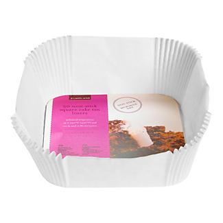 50 Square Cake Tin Baking Parchment Paper Liners 20cm