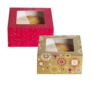Lakeland Christmas Baubles 2 Cake Boxes