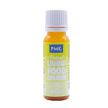 PME Lemon Yellow Concentrated Natural Food Colouring 25g