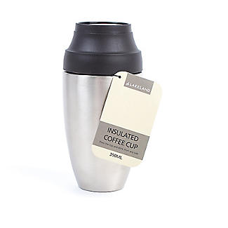 Stainless Steel Insulated Coffee Cup with Lid 350ml alt image 4