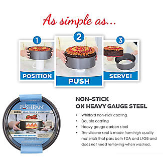 Lakeland PushPan Loose Based 20cm Non Stick Cake Tin - Round alt image 3