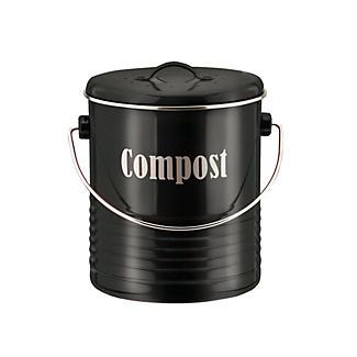 Typhoon® Vintage Kitchen Black Compost Caddy
