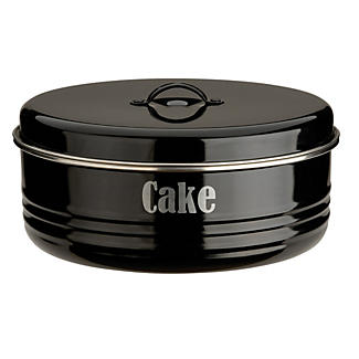 Typhoon® Vintage Kitchen Black Cake Tin