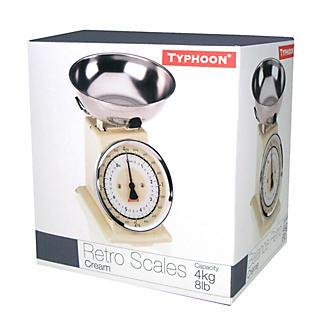 Typhoon® Retro Cream Mechanical Kitchen Weighing Scales alt image 2