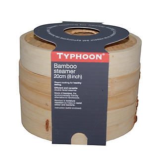 Typhoon® 2-Tier Bamboo Steamer alt image 2
