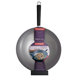 Typhoon® 35cm Carbon Steel Professional Wok