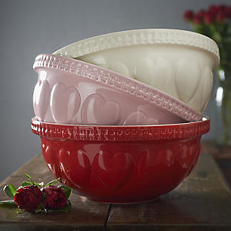 Mason Cash Romantic Hearts Cream Mixing Bowl 4.3L alt image 3