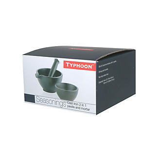 Typhoon® Cast Iron 2-in-1 Pestle and Mortar   alt image 2