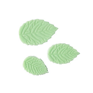 3 Mini Fondant Icing Cutters - Leaf Shaped alt image 1