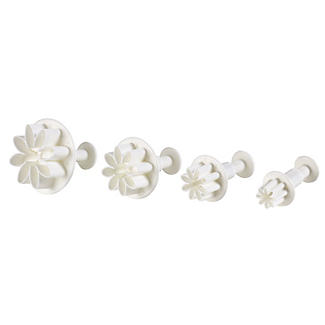 4 Mini Fondant Icing Cutters - Daisy Flower Shaped alt image 3
