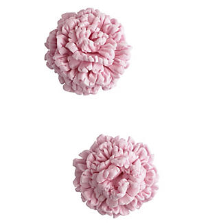 3 Mini Fondant Icing Cutters - Carnation Flower Shaped