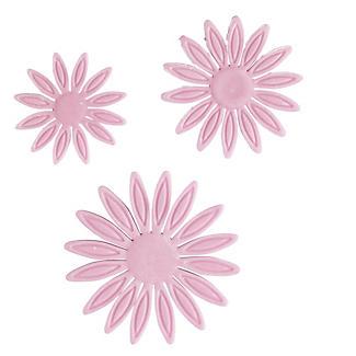 3 Mini Fondant Icing Cutters - Sunflower Flower Shaped