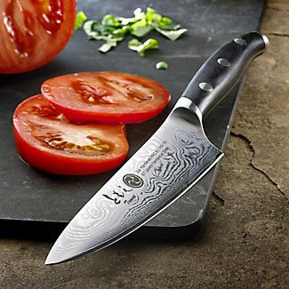 Damascus Japanese Utility Kitchen Knife 13cm Blade alt image 2