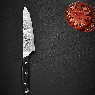 Damascus Japanese Santoku Kitchen Knife 18cm Blade alt image 3