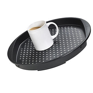 Round Non Slip Tea Serving Tray