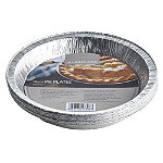 10 Disposable Foil Containers 18cm Round Pie Plates