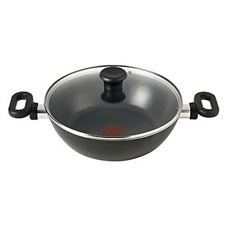 Tefal Kadai Indian 26cm Cooking Pan & Lid