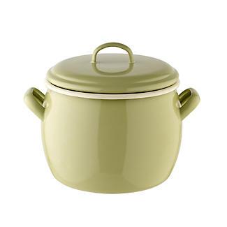 Vintage Enamel Small Bellied Pot