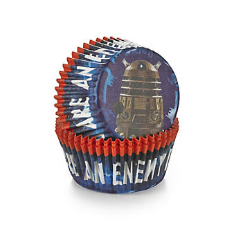 50 Doctor Who Greaseproof Cupcake Cases - Dalek  alt image 3