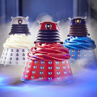 Dalek Cupcake Wraps and Toppers alt image 2
