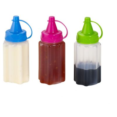 Sistema Sauce To Go Squeezy Sauce Bottle With Lids X3