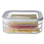 Ham & Cheese Slices 3 Tier Fridge Storage Container
